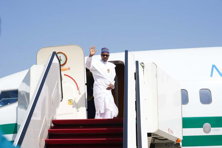 Mali Peace Mission: President Buhari returns to Abuja.