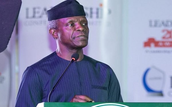 Osinbajo applauds int'l community's support for COVID-19